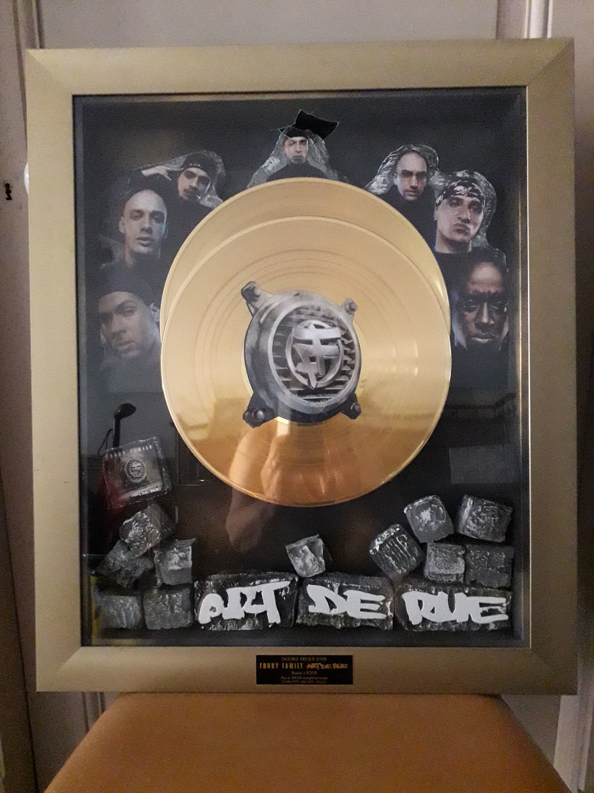 Double Disque d'or FONKY FAMILY ART DE RUE